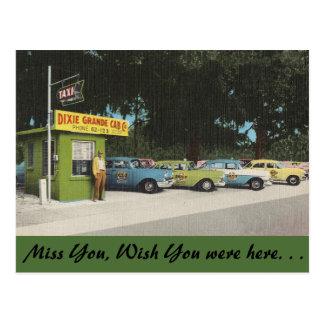 Florida, Dixie Grande Cab Co. Postcard