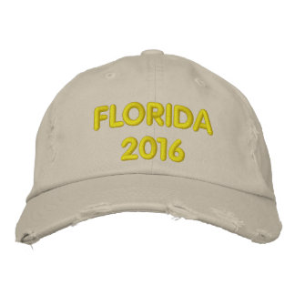 FLORIDA EMBROIDERED BASEBALL CAPS