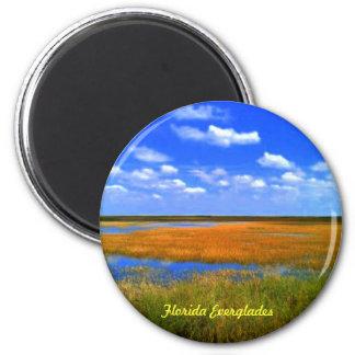 Florida Everglades Buttons Refrigerator Magnet