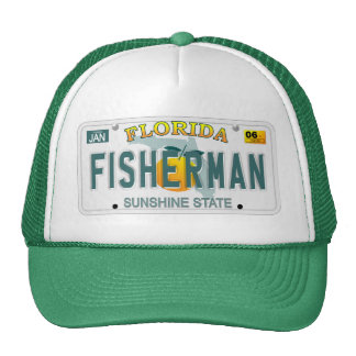 Florida Fisherman license plate hat