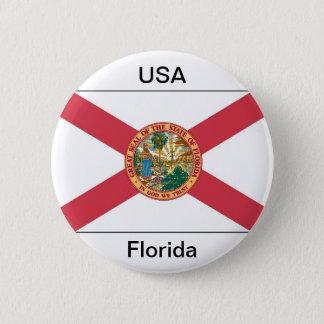 Florida flag 6 cm round badge