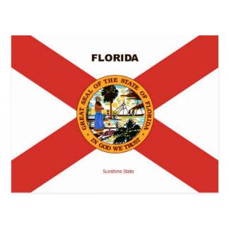 Florida Flag and Slogan Postcard
