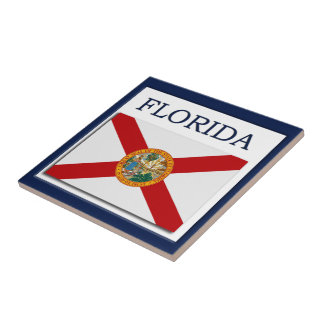 Florida Flag Design Tile