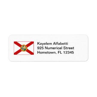 Florida Flag Return Address Label