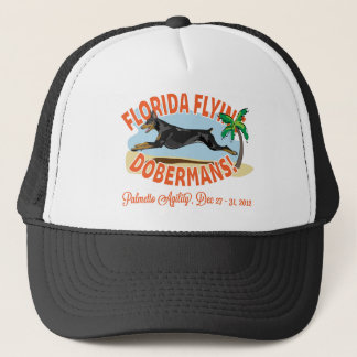Florida Flying Dobermans Black Trucker Hat