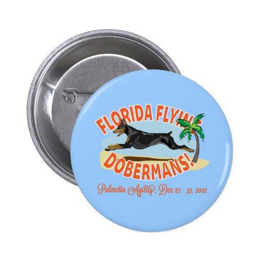 florida flying dobermans button