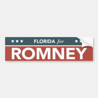 Florida For Mitt Romney Ryan Bumper Sticker