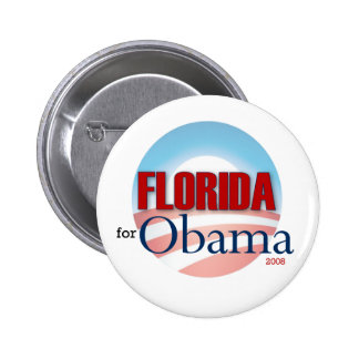 Florida for Obama 6 Cm Round Badge
