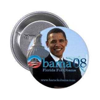 Florida For Obama Button