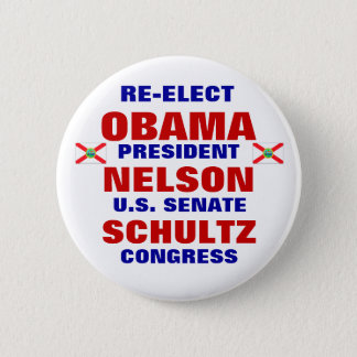 Florida for Obama Nelson Schultz 6 Cm Round Badge
