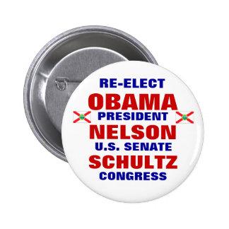 Florida for Obama Nelson Schultz 6 Cm Round Badge