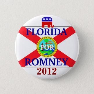 Florida for Romney 2012 6 Cm Round Badge