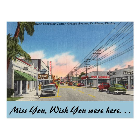 Florida, Ft. Pierce, Orange Avenue Postcard