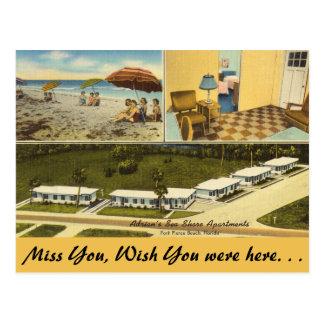 Florida, Ft. Pierce, Sea Shore Apartments Postcard