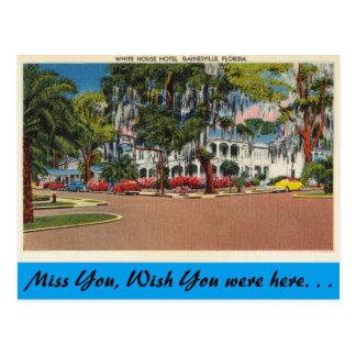 Florida, Gainesville, White House Hotel Postcard