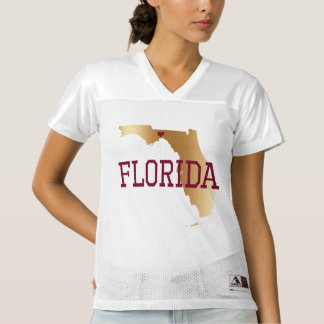Florida Gold and Garnet with State Capital Women's Football Jersey