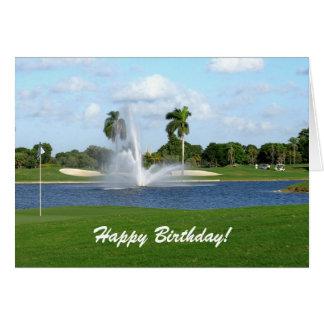 Florida Golf Course Custom Birthday Card