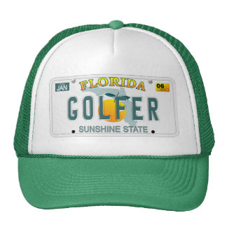 Florida Golfer license plate hat