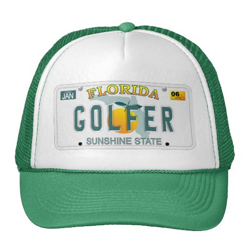 Florida Golfer license plate hat