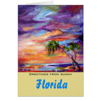 Florida Greetings Customizable Card by Ginette