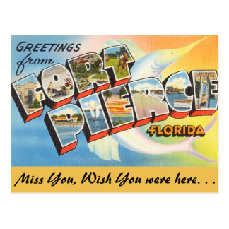 Florida, Greetings from Fort Pierce Postcard
