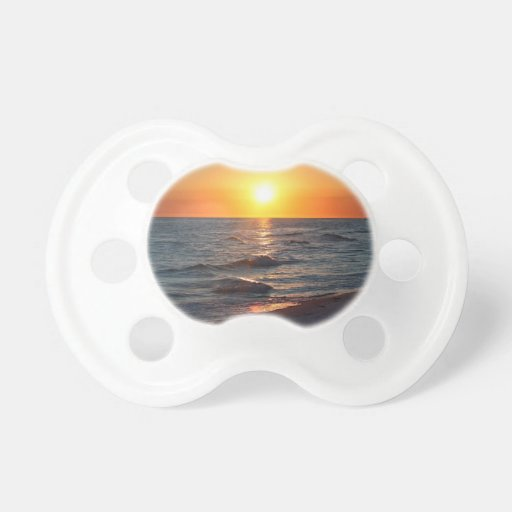 Florida gulf coast sunset pacifier