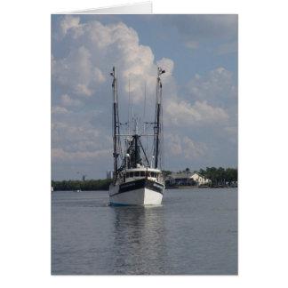 Florida Gulf Shrimper Greeting Card