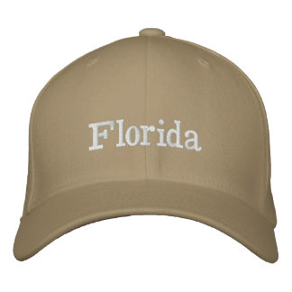 Florida hat embroidered hats
