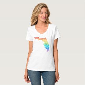 Florida Hearts in Rainbow T-Shirt
