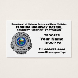 Florida Highway Patrol FHP Business Card