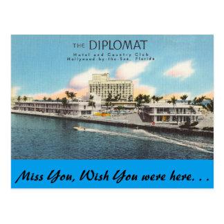 Florida, Hollywood, The Diplomat Postcard