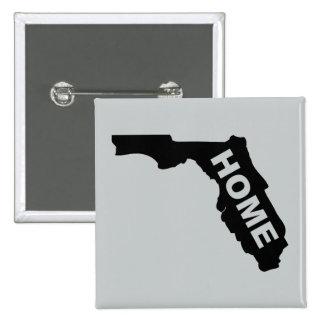 Florida Home Button Badge Sunshine State 2 Inch Square Button
