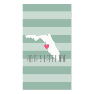 Florida Home State Love with Custom Heart Pack Of Standard Business Cards