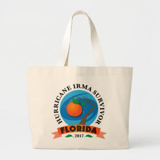 Florida Hurricane Irma Survivor Large Tote Bag