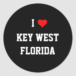 FLORIDA: I Love Key West, Florida Classic Round Sticker