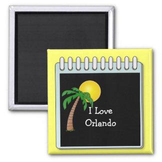 Florida: I Love Orlando Square Magnet