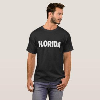 Florida in White Text on Dark T-Shirt