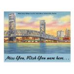Florida, Jacksonville, Main St. Bridge Postcard