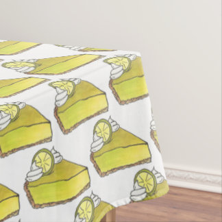 Florida Key Lime Pie Slice Dessert Foodie Baking Tablecloth