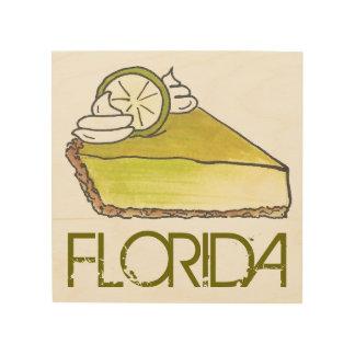 Florida Key Lime Pie Slice Dessert Foodie Gift Art Wood Canvas