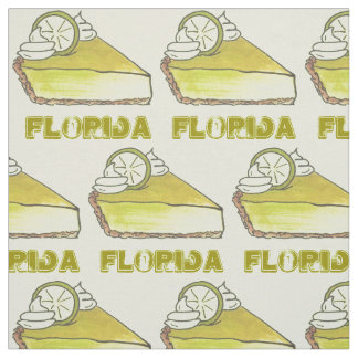 FLORIDA Keys FL Key Lime Keylime Pie Slice Foodie Fabric