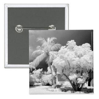 Florida Keys house and its palm trees, USA. 2 15 Cm Square Badge