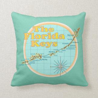 Florida Keys Map illustration Cushion