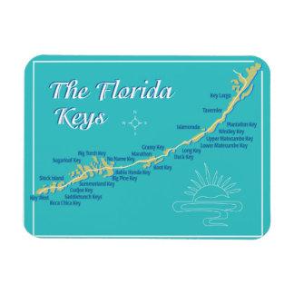 Florida Keys Map Magnet