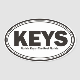 Florida Keys Oval Sticker
