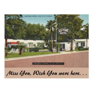 Florida, Lake City, Mid-Town Motel Postcard