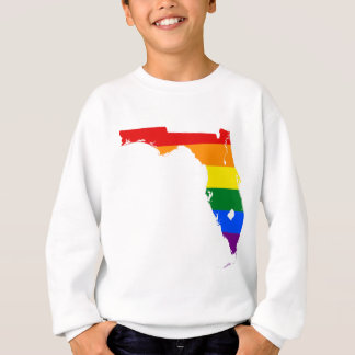 Florida LGBT Flag Map Sweatshirt
