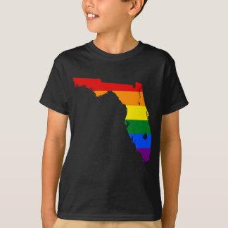 Florida LGBT Flag Map T-Shirt