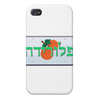 Florida License Plate in Hebrew iPhone 4/4S Covers