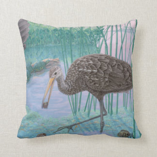 Florida Limpkins And Apple Snails Cushion